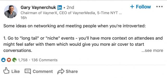 creating content / linkedin post